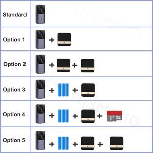 Image 2 - WIFI Türklingel Smart Home Drahtlose Telefon Tür Glocke Kamera Sicherheit Video Intercom 720P HD IR Nachtsicht Für Wohnungen