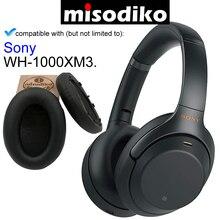 Misodiko yedek kulak pedleri yastık Sony WH 1000XM3, kulaklık tamir parçaları yastıkları ile klip halka ve ayar ton pamuk