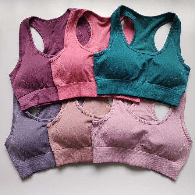 $ US $15.42 Nepoagym Hyperflex Women Seamless Bra Sport Bra Top Yoga Bra Sports Bra Sports Wear for Women Gym Fitness Bra Women Active Wear
