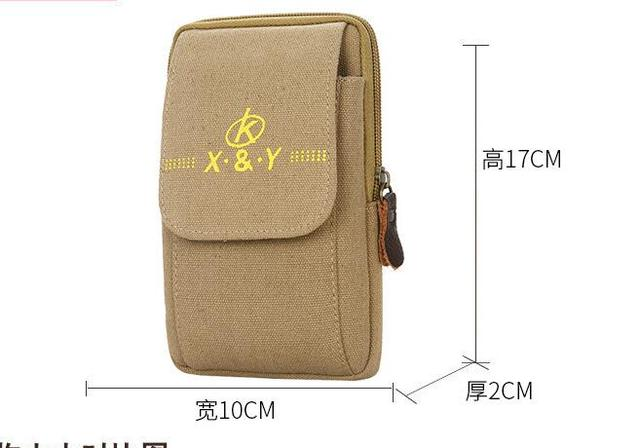 2020 new Men's Belt Leather Case Phone Bag Wear Belt Wallet Shoulder Bag Coin Purse Wallet Phone Pocket Men's Large Capacity 2