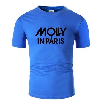 Vintage Molly In Paris Tshirt Men Classical Comic Men And Women T Shirts Short Sleeve Top Tee