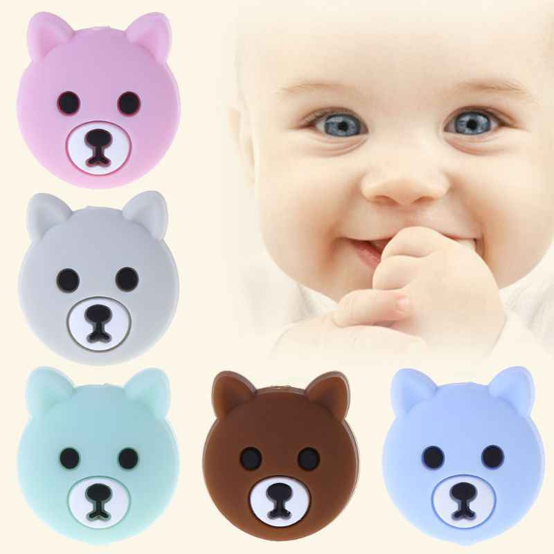 Chupete para bebé niño mordedor calmante niños niñas oso lindo colorido diseño niños comodidad suministros DXAD