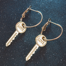 2019 New Fashion Simple Statement Key Dangle Earrings for Women Vintage Drop Earrings Wedding Party Bridal Fringed Jewelry Gift