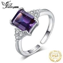 Jewelrypalace 만든 alexandrite 사파이어 반지 여성을위한 925 스털링 실버 반지 약혼 반지 실버 925 보석 쥬얼리