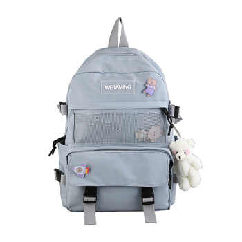 2020 New Backpack Nylon Fashion Outdoor Backpack Stylish Female College Backpack for Teenages Girls High School Bookbags Bags