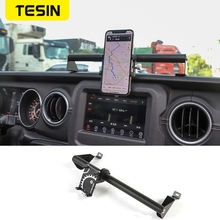 TESIN GPS Stand Holder for Jeep Gladiator JT 2018+ Car Mobile Phone Support Holder Accessories for Jeep Wrangler JL 2019+