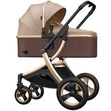 8.9Kg Reversible Luxury Baby Stroller 2 in 1 Portable High Landscape Stroller Hot Mom Pink Stroller Travel Pram Infant Pushchair