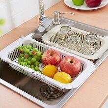 Креативная кухонная Выдвижная сливная полка для раковины, корзина для слива, многофункциональная пластиковая сушилка для посуды, фильтр для раковины, корзина для воды, новинка