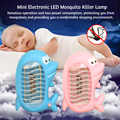 Mini Electronic Mosquito Killer Lamp 110V Cartoon Dolphin LED Insect Fly Bug Zapper Killer Eco-friendly Mosquito Repellent Trap