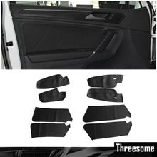 SRXTZM микрофибра кожа межкомнатные двери панели s охранники+ дверь панель подлокотника защитная накладка для Volkswagen Tiguan