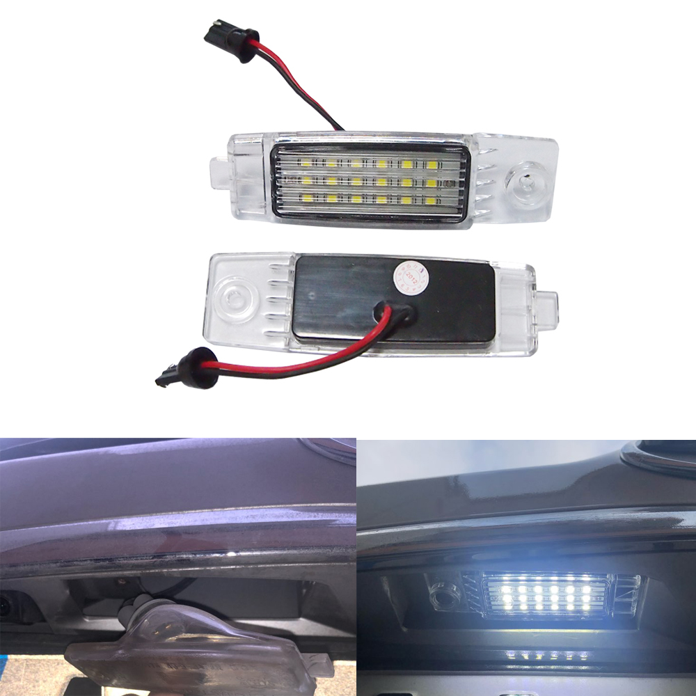 2pcs Led License Number Plate Light <font><b>Lamp</b></font> Rear Part For TOYOTA Hiace/Highlander/RAV4/Land Cruiser 200/For <font><b>Lexus</b></font> <font><b>RX300</b></font> image