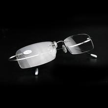 Rolipp Presbyopic glasses reading frame and ultra thin square super elastic metal leg fashion +1.0 to +3.5