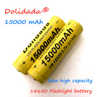 2020 Nieuwe 18650 Li Ion Batterij 15000 Mah Oplaadbare Batterij 3.7V Voor Led Zaklamp Zaklamp Of Elektronische Apparaten Batteria-in Oplaadbare Batterijen van Consumentenelektronica op