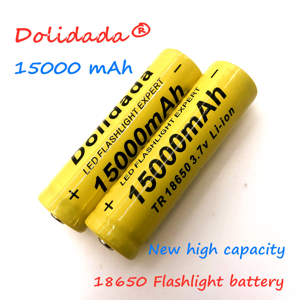 2020 new 18650 Li-Ion battery 15000mah rechargeable battery 3.7V for LED flashlight flashlight or electronic devices batteria(China)