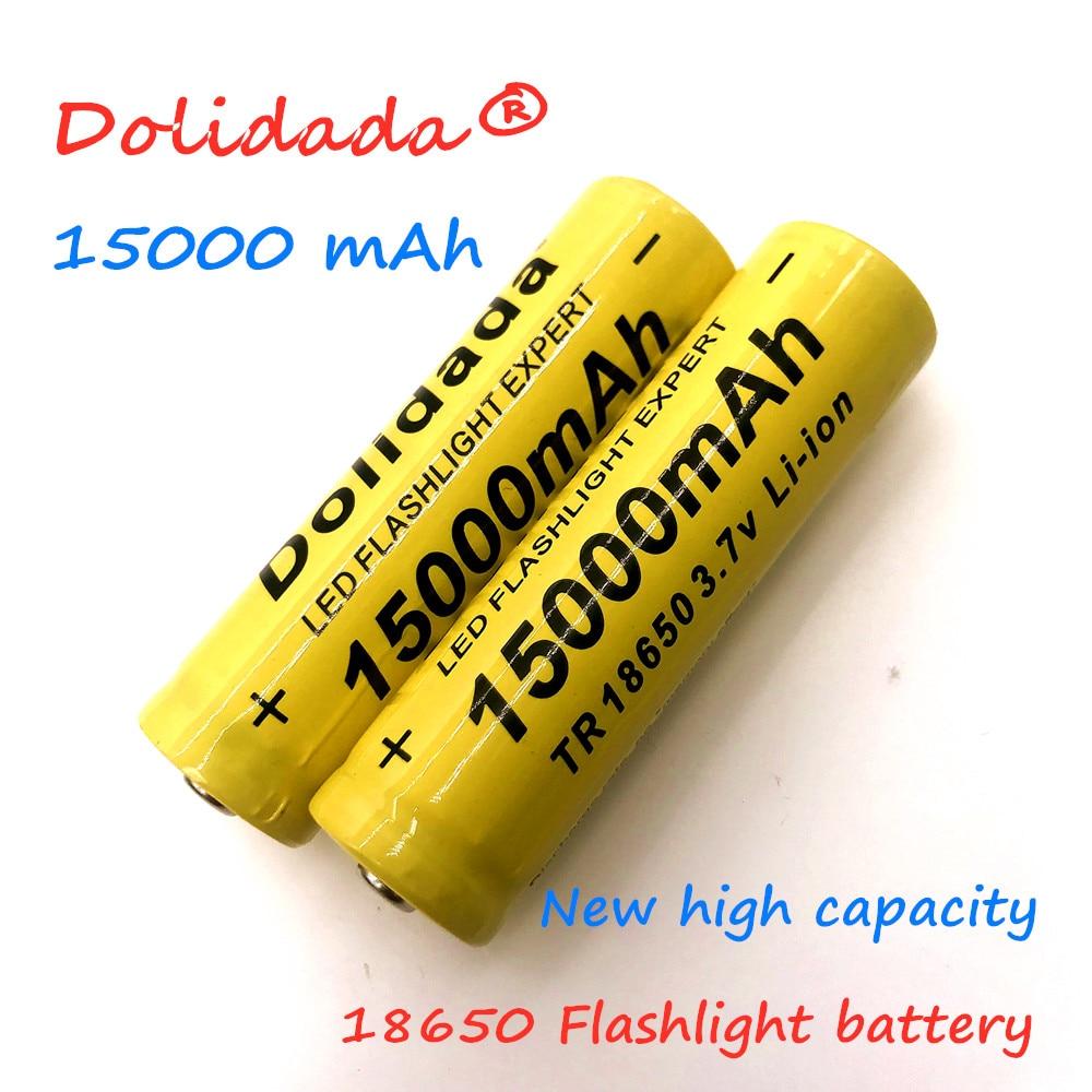 2020 new 18650 Li Ion battery 15000mah rechargeable battery 3.7V for LED flashlight flashlight or electronic devices batteria|Rechargeable Batteries| |  - title=