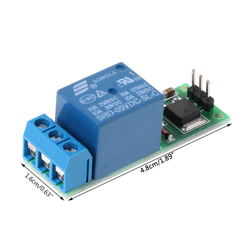 6-24V Flip-Flop Latch Relay Bistable Self-locking Low Pulse Trigger Relay Module