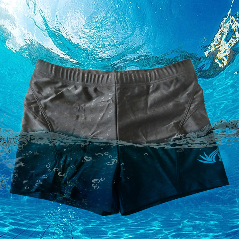 New Style MEN'S Swimming Trunks Men's Bathing Suit Black And White With Pattern Swimming Trunks Inside-Lace-up Hot Springs Swimm