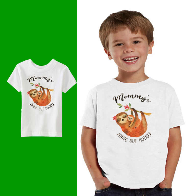 2019 Cartoon Print Baby Boys Mommy's Sloth T Shirt For Summer Infant Kids Boys Girls T-shirts Clothes Cotton Toddler Letter Tops