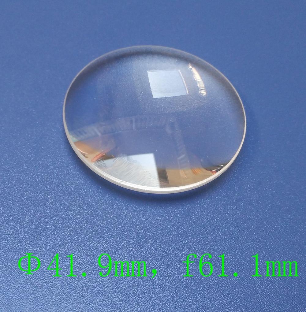 Оптическая призмовая выпуклая линза диаметром 41,9 мм, 61 мм фокусное расстояние K9 стекло испытательный инструмент настраиваемая лупа для VR|Линзы|   | АлиЭкспресс