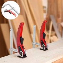 160/200/300*80mm catraca rápida f braçadeira resistente todo-aço forjado f braçadeira carpintaria braçadeira fixa braçadeira carpintaria
