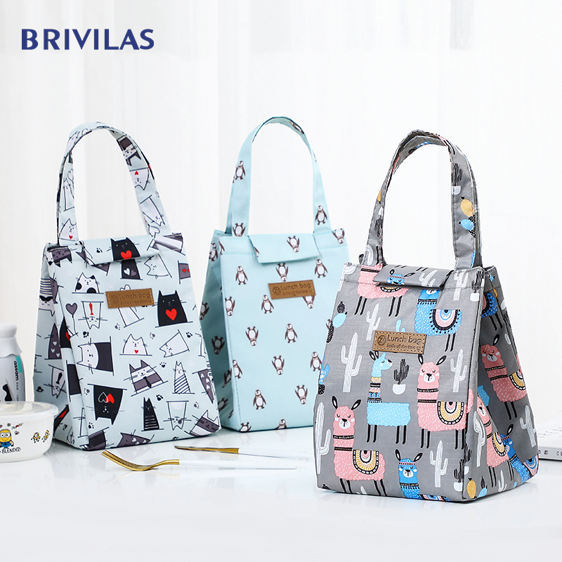 Brivilas Cooler Lunch Bag Fashion Ctue Cat Multicolor Bags Women Waterpr Hand Pack  Thermal Breakfast Box Portable Picnic Travel
