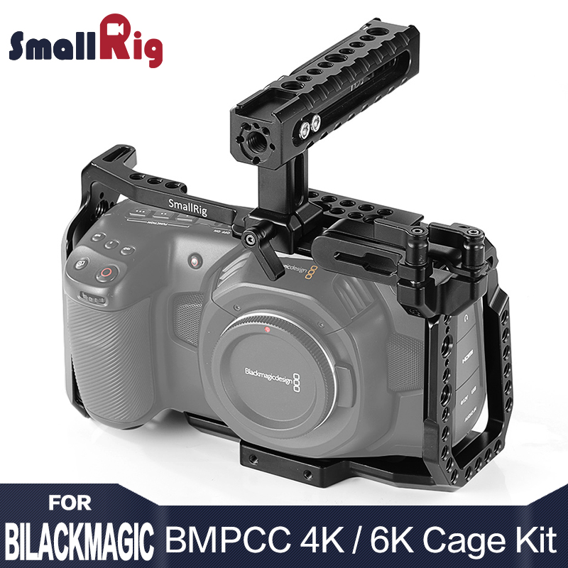SmallRig BMPCC 4 K Cage Kit For Blackmagic Design Pocket Cinema Camera 4K BMPCC 4K / BMPCC 6K Comes With Nato Handle SSD Mount