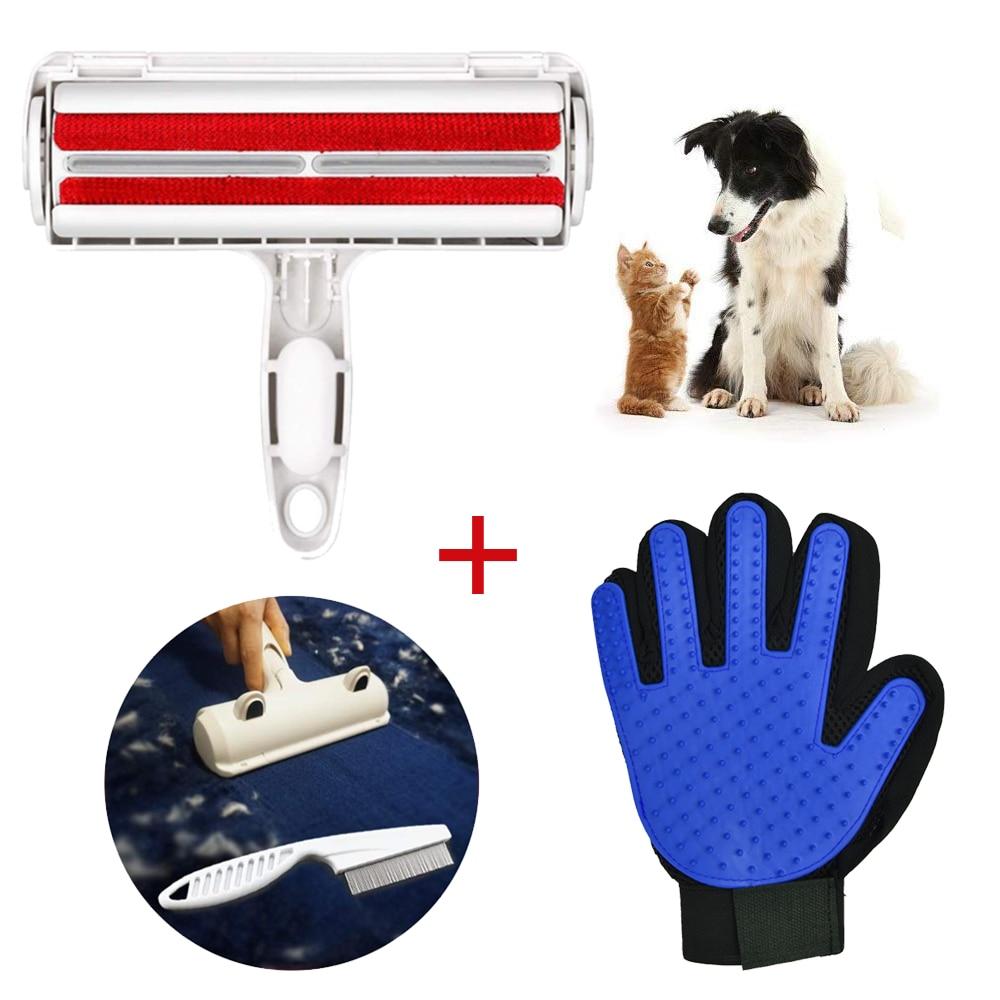 Перчатка для груминга домашних животных щетка удаления волос