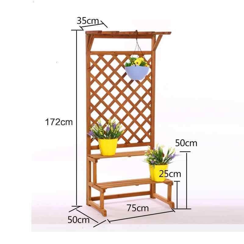Pour Plante de la habitación de madera Saksi Standi Estanteria Plantas decoración de Stojak Na Kwiaty estante de flores para exteriores planta