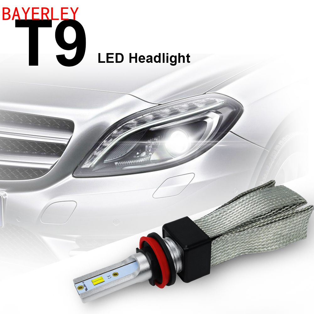 T9 12V 60W 3000K 4300K 6000K Auto Lampe H7 LED H4 H1 H11 9005 9006 9003 HB2 HB3 HB4 9600LM Voiture Phare Ampoules