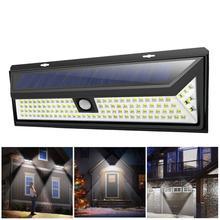 Iluminação led com painel solar, para áreas externas, com sensor de movimento, à prova d água, lâmpadas para gramado, para jardim, para áreas externas, iluminação para quintal