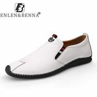 2021 echtem Leder Loafer Männer Luxus Marke Gummi Casual Männer Schuhe Slip on Atmungsaktive Wohnungen Fahren Schuhe Herren Große Größe 12