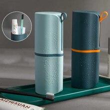 Портативный Дорожный Чехол для семейной зубной щетки, коробка в виде капсулы для зубной пасты, кружка для рта, дорожный контейнер для зубной щетки, Набор чашек для мытья