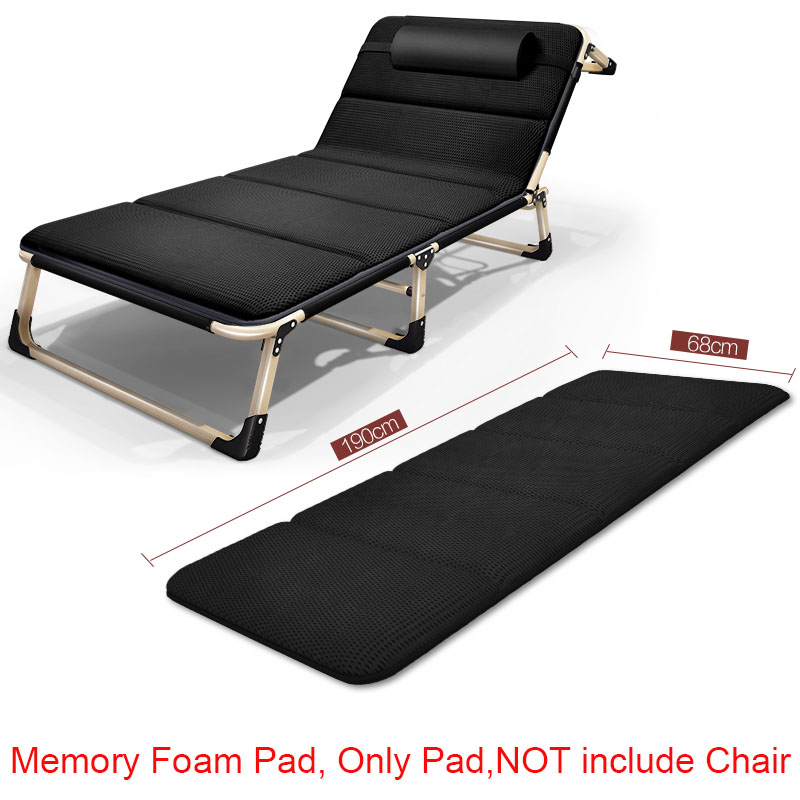 Noon Rest Folding Pad For Chair Portable Soft Padding Memory Foam Cushion  Chaise Lounge Widening Foldable Padded