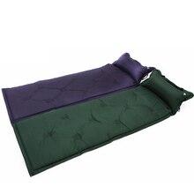 Barraca de acampamento dormir esteira automaticamente inflável almofada de almofada único colchão de ar pop up tenda à prova de umidade almofada de acampamento travesseiro