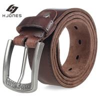 HJones-cinturón genuino para hombre, hebilla de Pin ajustable antiarrugas, calidad Premium, Jeans PK1306, 2021
