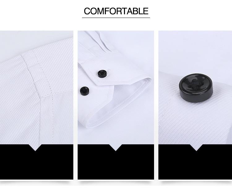 Hd0f91d510e204572bb22b6bfb6580cd6O Autumn New Men Shirt Smart Casual Long Sleeved Button Down Male Twill Shirts Formal Business White Blouse 4XL 5XL