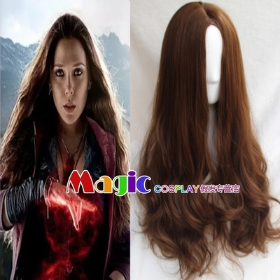 Hair Cap+The Avengers Scarlet Witch Wig Wanda Maximoff fashion Long Synthetic