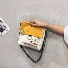 Classic Women Bag 2019 New Fashion Small Mini Shoulder Canvas Female Student Message XZ-130.