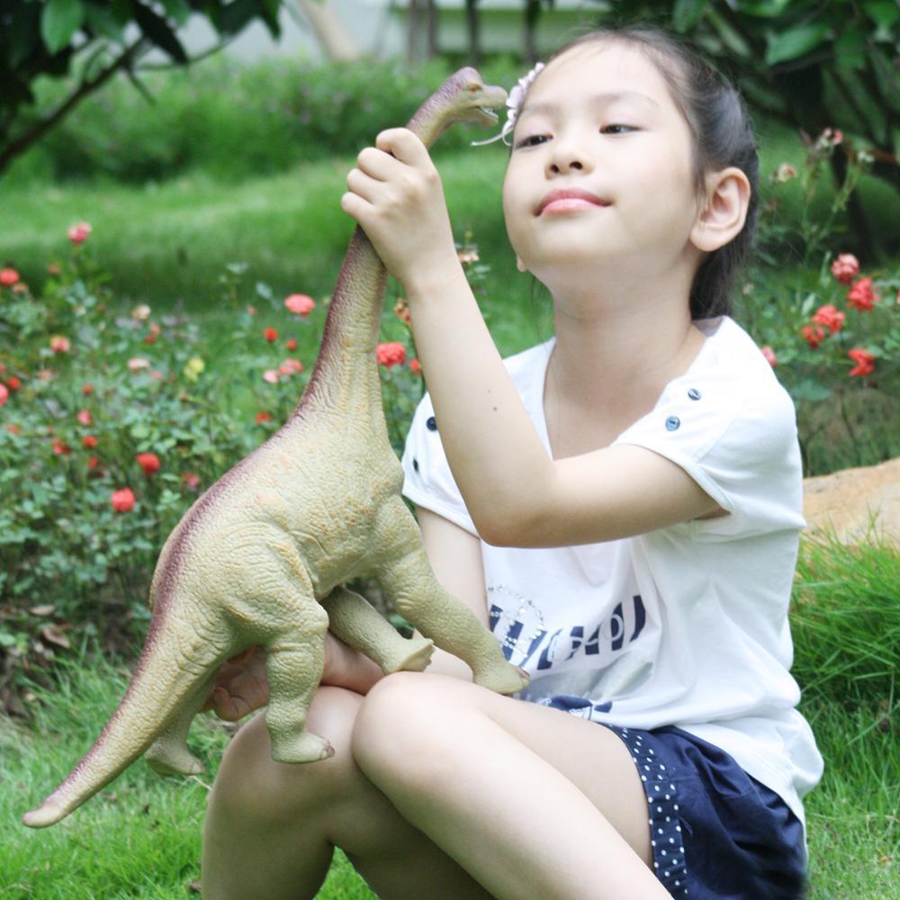 huang cheng brinquedos 16 polegada brachiosaurus dinossauro figura modelo animal pvc pelucia algodao macio toque cena