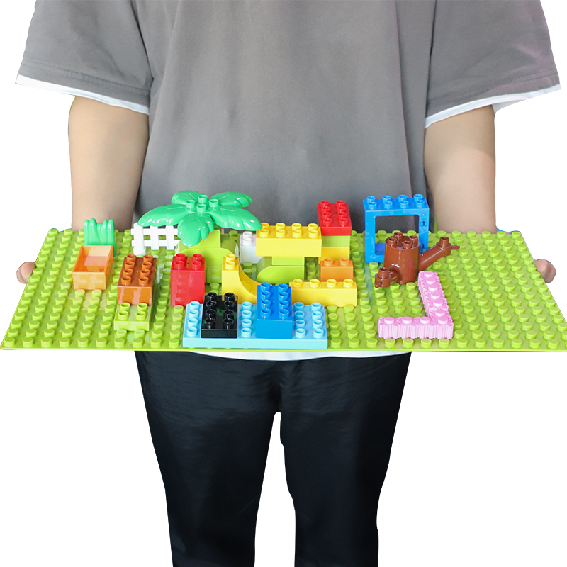Big Blocks <font><b>Base</b></font> <font><b>Plate</b></font> 32*16Dots 51*25cm Baseplate DIY Building Blocks Accessory Toy For Children Compatible Legoes Duploes Brick image