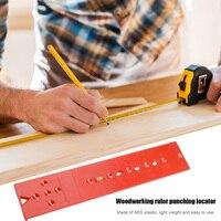 Localizador de perforación para carpintería, guía de taladro en plantilla, regla de nivel de burbuja de plástico, localizador de pilares de madera, herramienta de perforación de agujeros para carpintería