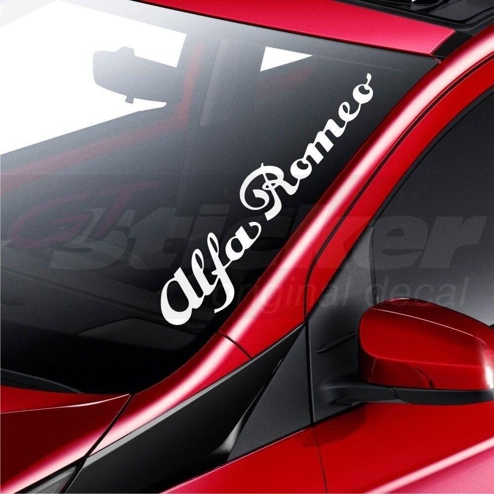 Para alfa romeo carro pára-brisas decalque adesivo emblema logotipo 145 146 147 155 156 159 164 estilo