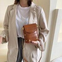 Western style women's bag crocodile pattern 2019 popular chain bag ladies shoulder Joker Messenger bag