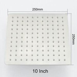 Image 5 - 起毛ニッケルステンレス鋼の正方形のシャワーアームシャワー壁は、マウント天井シャワーアーム卸売
