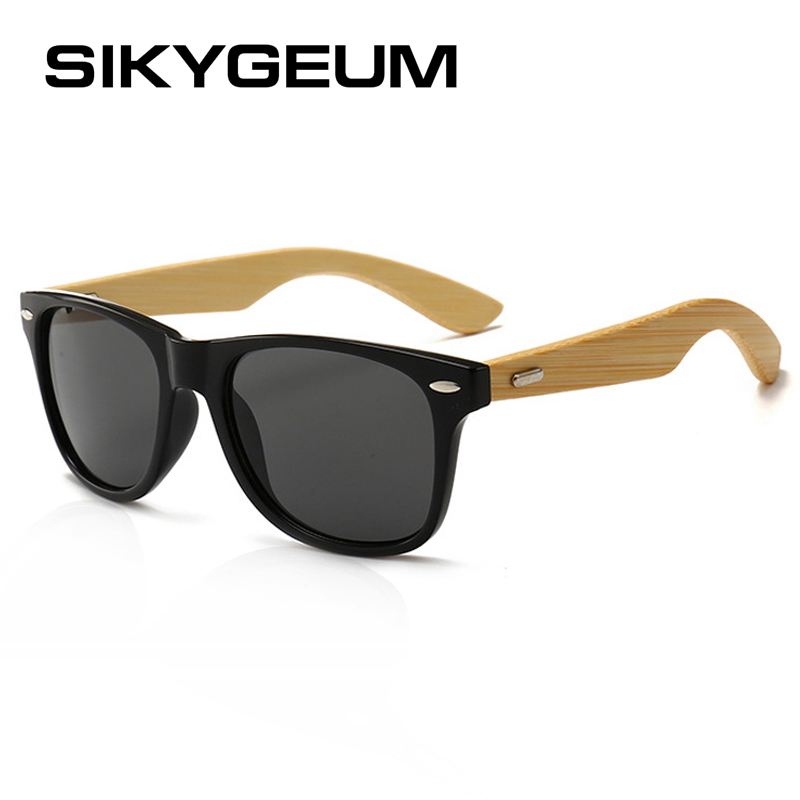 SIKYGEUM Classic Unisex Wood Sunglasses Men Brand Designer Rivets Retro Women Driving Eyeglasses