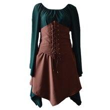 Женское платье ретро средневекового возрождения костюм для косплея