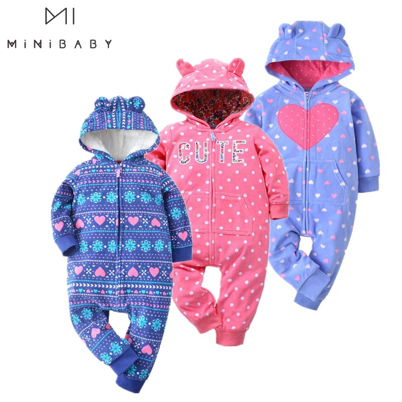 2020 Spring Jumpsuit Baby Girl Clothing Fleece Romper Baby Coat 12M-24M Kids Costumes For Baby Clothes , Body Infant Rompers