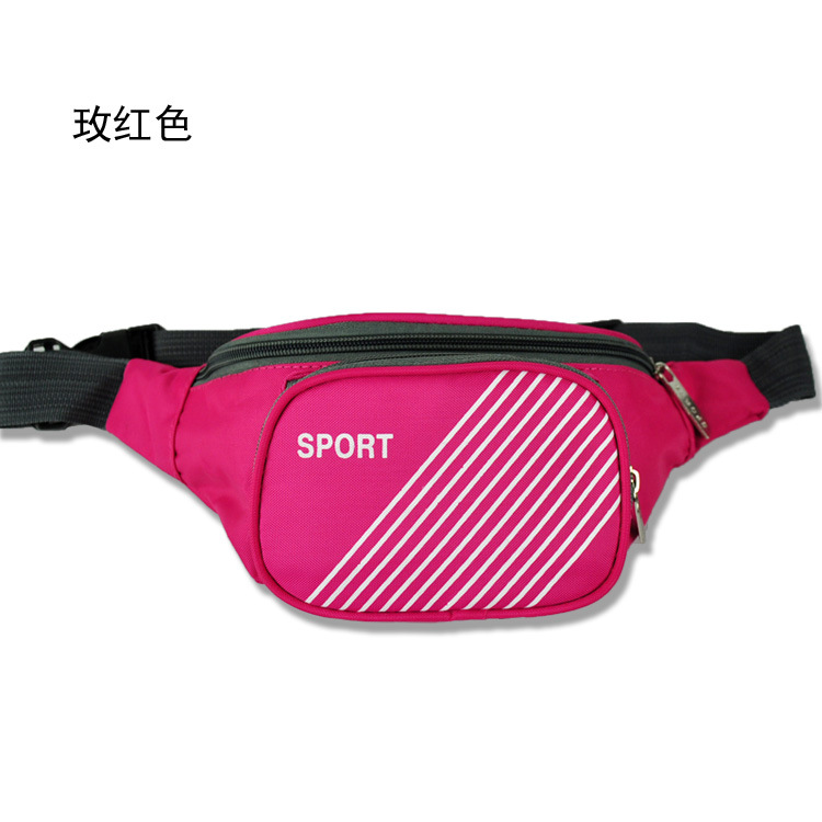 [Factory Price] Multi Purpose Nylon Fanny Pack Shoulder Sports Chest Pack Multi-functional Body Hugging Cash Storage Bag Y6274