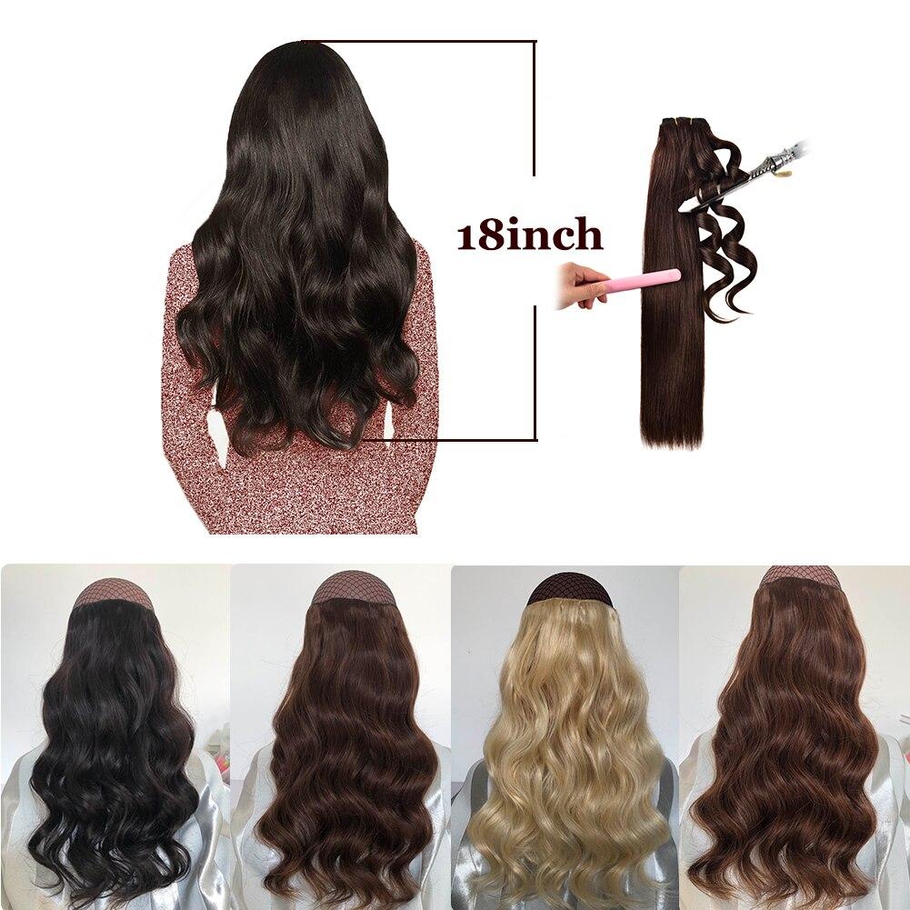 100 cabelo humano de remy extensoes 8 05