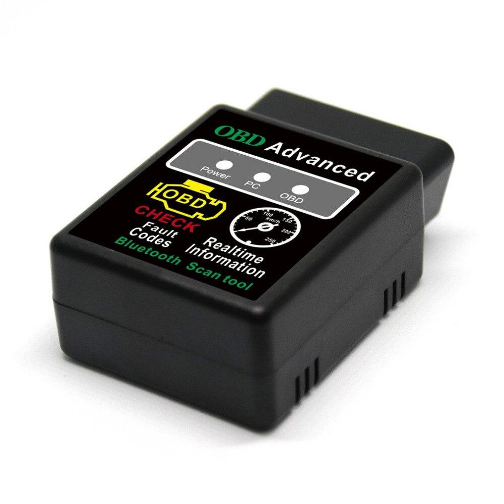 Мини ELM327 V1.5 Bluetooth HH OBD Расширенный OBDII OBD2 ELM 327 Автомобильный диагностический сканер, считыватель кодов, инструмент для сканирования, хит прод...